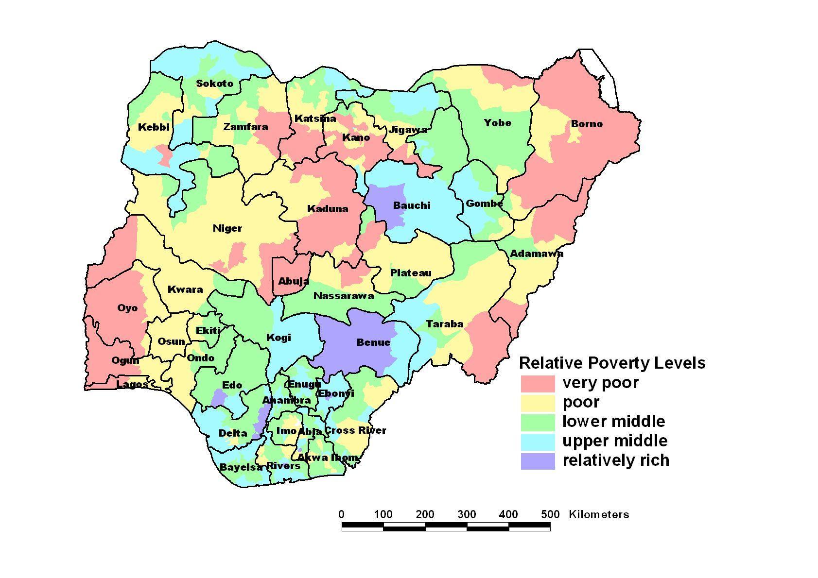 Economic Map Of Nigeria Map Of Economic Nigeria Western Africa