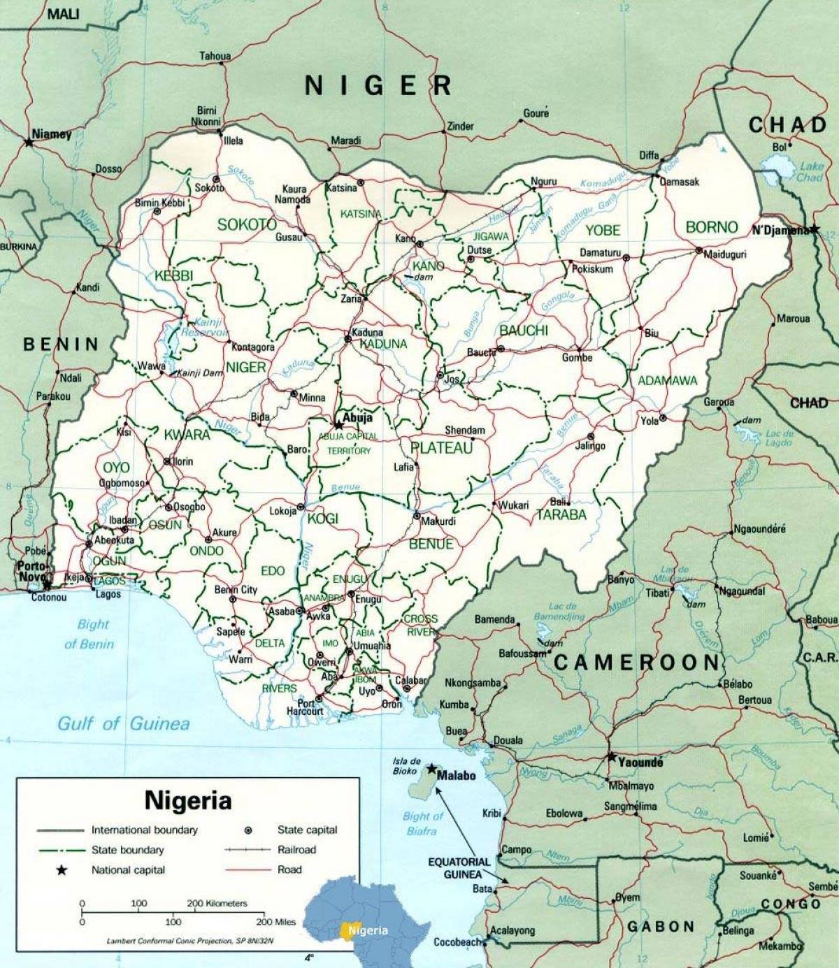 Lagos Nigeria Map Lagos Nigeria Map Africa Western Africa Africa