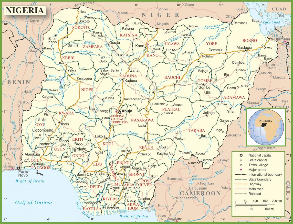 complete map of nigeria