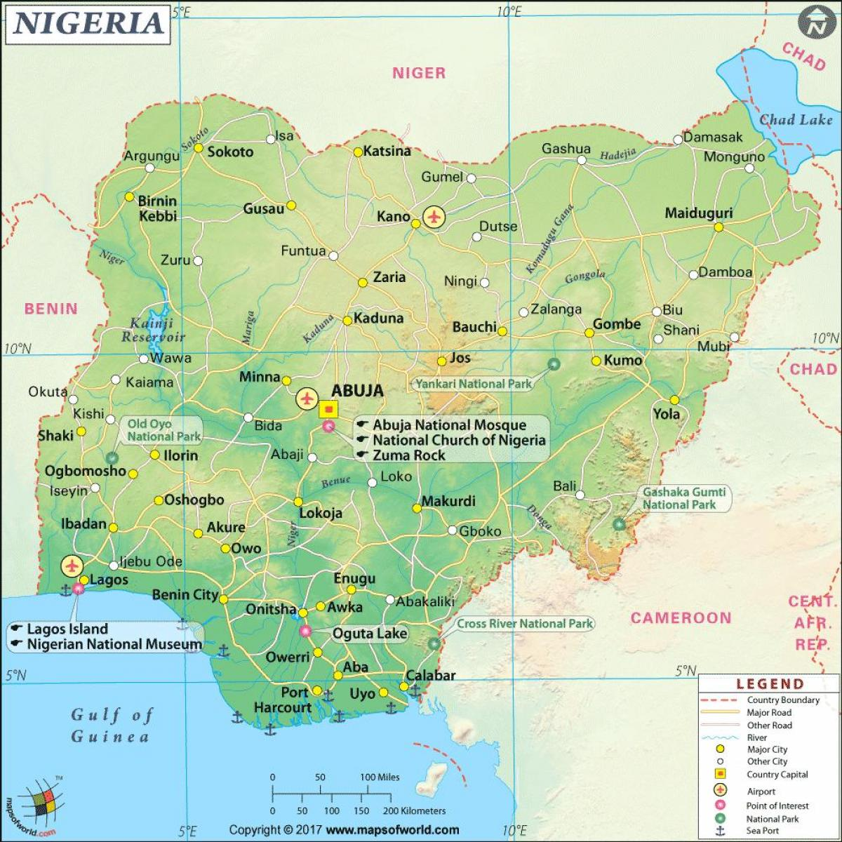 pictures of nigerian map