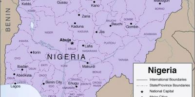 Map of detailed nigeria